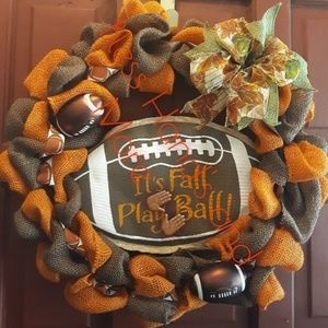 Fall theme Burlap Wreath
